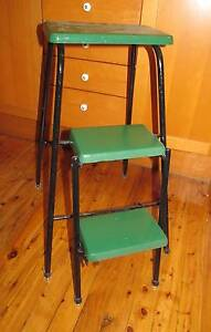 Vintage Folding Step Ladder Stool Lovingly Restored Dul Hill Syd Dulwich Hill Marrickville Area Preview