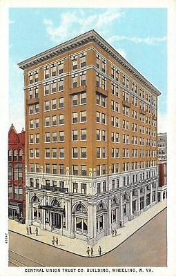 Wheeling West Virginia Central Union Trust Co Bank Building 1920S Postcard