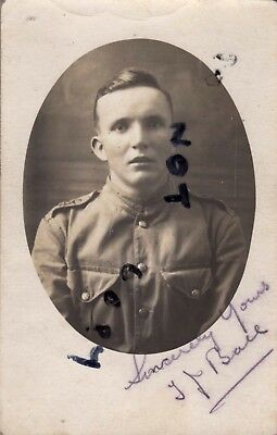 WW1 Soldier Pte T J Ball serving with unknown territorial unit Egypt Palestine ()