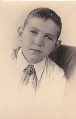 1950s Handsome young boy pioneer school fashion old Russian Soviet photo