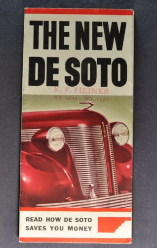 1937 DeSoto Sales Brochure Folder Excellent Original 37