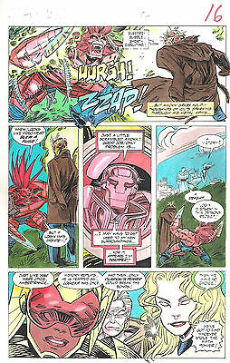 Clive Barker HYPERKIND #9 pg12 original hand-painted color guide art 1995 signed