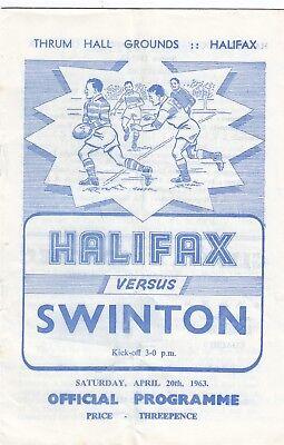 Halifax v Swinton 1962/3 (20 Apr)