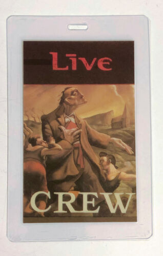 LIVE 1995 Throwing Copper Tour Laminated Back Stage Crew Pass