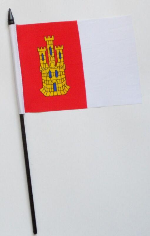 Spain Castilla-La Mancha Small Hand Waving Flag