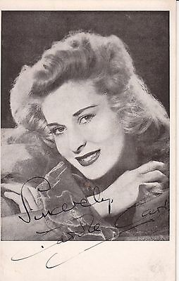 ACTRESS CAROL CARD AUTOGRAPHED BLACK AND WHITE PHOTO CARD
