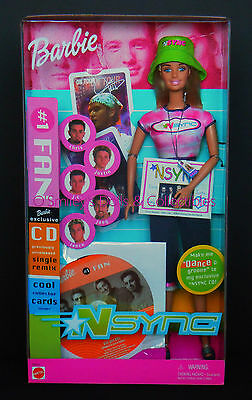 2001 Nsync 1 Fan Barbie Exclusive Jointed Generation Girl Dance W Cd50534_nrfb
