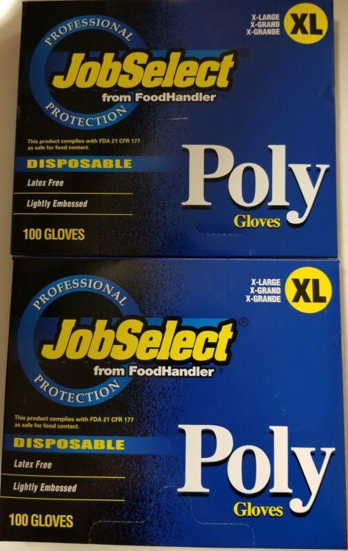 200 Non-Reusable Gloves professional protection job select Poly-FoodHandlerXL