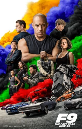 Fast and the Furious 9  movie poster (c) - Vin Diesel  - 11 x 17 - F9