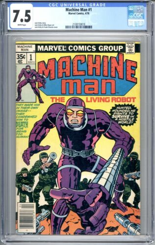Machine Man #1 - CGC Graded 7.5 (VF-) 1978  Bronze Age - First Issue