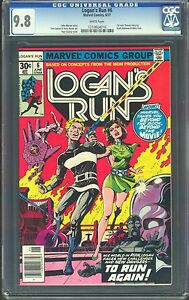 LOGAN'S RUN #6, 1ST SOLO THANOS,1977, CGC NM/MT 9.8, WHITE PAGES, HIGHEST GRADED
