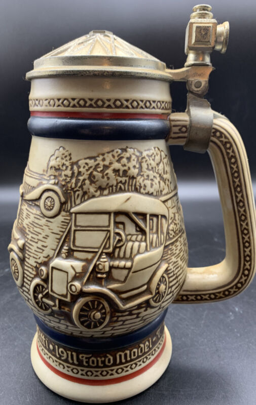1979 Vintage AVON Beer Stein Classic Cars Handcrafted in Brazil