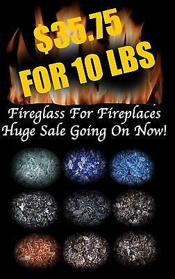 HUGE SALE - SPECIAL - FIREGLASS Fireplace & Fire Pit Crushed Glass Tempered  ()