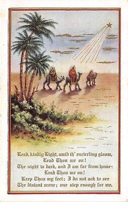 POSTCARD   RELIGION   Desert  Camels  Lead  Kindly  Light ....