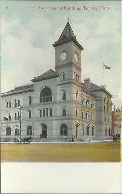 OLD VINTAGE GOVERNMENT BUILDING IN TOPEKA KANSAS POSTCARD