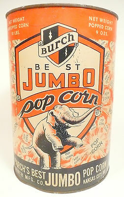 1950s Burch Popcorn Machine 10 Lb Empty Popcorn Can 4 - Export Pa Theatre