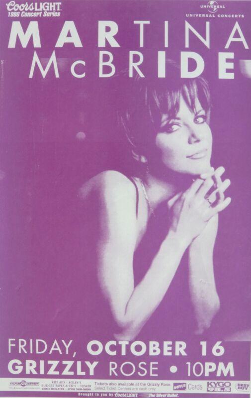 MARTINA McBRIDE 1998 DENVER CONCERT TOUR POSTER - Sexy Country Music Superstar