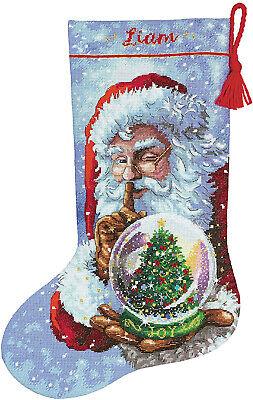 Cross Stitch Kit ~ Dimensions Santa's Snow Globe Christmas S