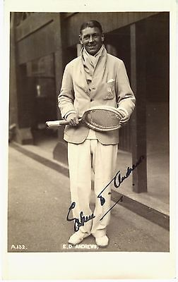 Eskell Andrews 1928 New Zealand Davis Cup Player Vintage Signed Tennis Postcard