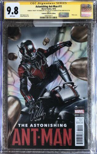 Astonishing Ant-Man #11 movie cover_CGC 9.8 SS_Signed Paul Rudd Evangeline Lilly