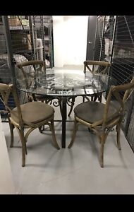 Selling 4 beautiful chairs, table not included!