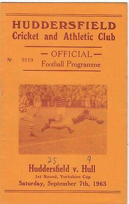 Huddersfield v Hull FC 1963/4 Yorkshire Cup