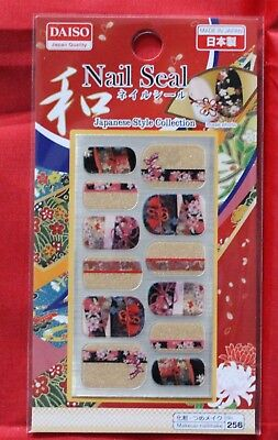 Daiso Japan  Nail parts seal Japanese style collection No,1 Made in Japan