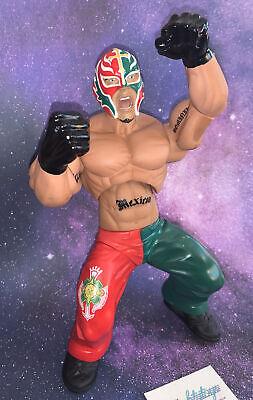 "WWE Ring Giants 2005 Rey Mysterio 14"" Wrestling Figure Poseable Large wwf Vtg"