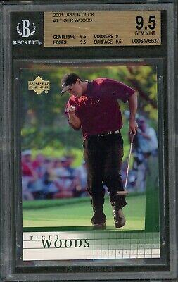 2001 Tiger Woods Upper Deck #1 RC Rookie BGS 9.5 Gem Mint