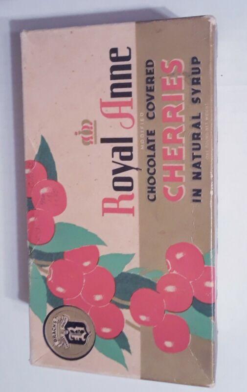 Vintage Brachs Royal Anne Chocolate Covered Cherries Box 1930s