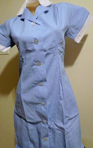 Best Medical Nurse Dress Collared Princess Seam Blue 2 Pocket S - 4X (28 to 52)