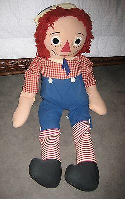 "Vintage large 44"" Knickerbocker Raggedy Andy doll"
