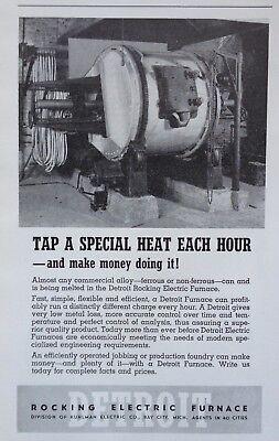 1940 AD(J18)~DETROIT ROCKING ELECTRIC FURNACE, BAY CITY, MI. ALLOY SMELTING