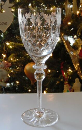 "Rogaska QUEEN 9.25"" Tall Water Glass (es) Goblet"