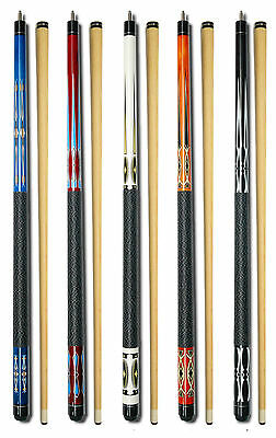 SET OF 5 POOL CUES New Two-Piece Billiard House Pool Cue Stick GJ1~5 FREE SHIP
