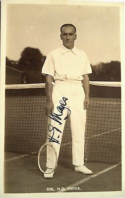 Henry Mayes 1913 Canada S First Davis Cup Team Vintage Signed Tennis Postcard