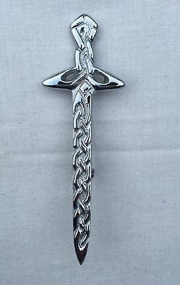 Scottish Celtic Kilt Pin/Scottish Heritage Kilt Pin Chrome Finish/Kilt Pin/pins