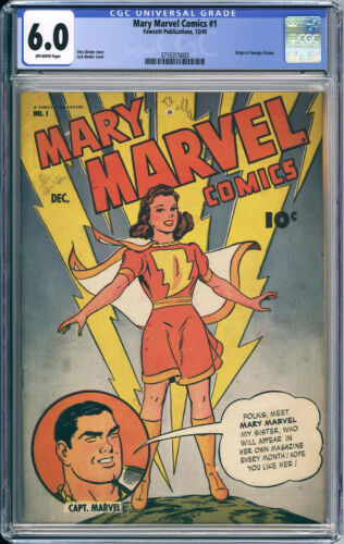 MARY MARVEL #1  CGC FN 6.0 - A KEY Golden Age Issue - 1945