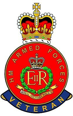 RMP Royal Military Police HM Armed Forces Veterans Clear Cling Sticker