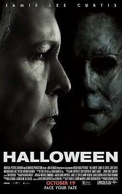 Halloween movie poster (c) (2018)  - 11 x 17 inches - Jamie Lee Curtis - Lee Curtis Halloween