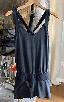 Lululemon Run For Your Money Romper Dress Shorts Black  Size 2