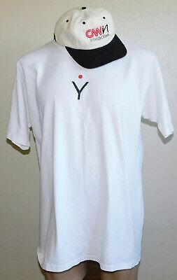 CNN Interactive Hat Cap & CNN.com Community White Graphic T-Shirt 100% XL (Cnn Com)