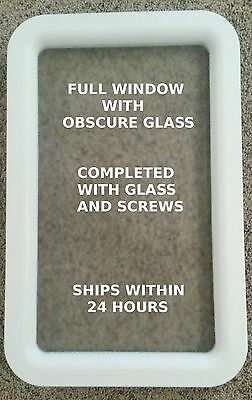 NEW White RV Entry Door Window - Thor Keystone Dutchmen KZ Cruser CrossRoads DRV
