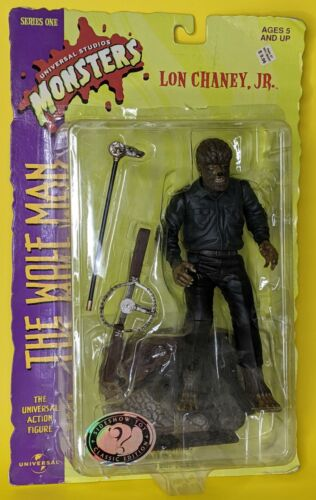 """The Wolfman 7.5"""" action figure 1998 Sideshow Universal Studios Monsters MOC"""