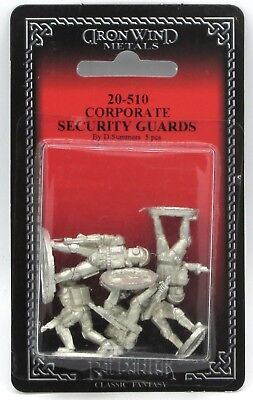 Ral Partha 20-510 Corporate Security Guards (Shadowrun) Cyberpunk Humans & Orc