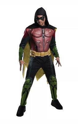 Robin Costume Adult Batman Arkham Halloween Fancy Dress Muscle Chest