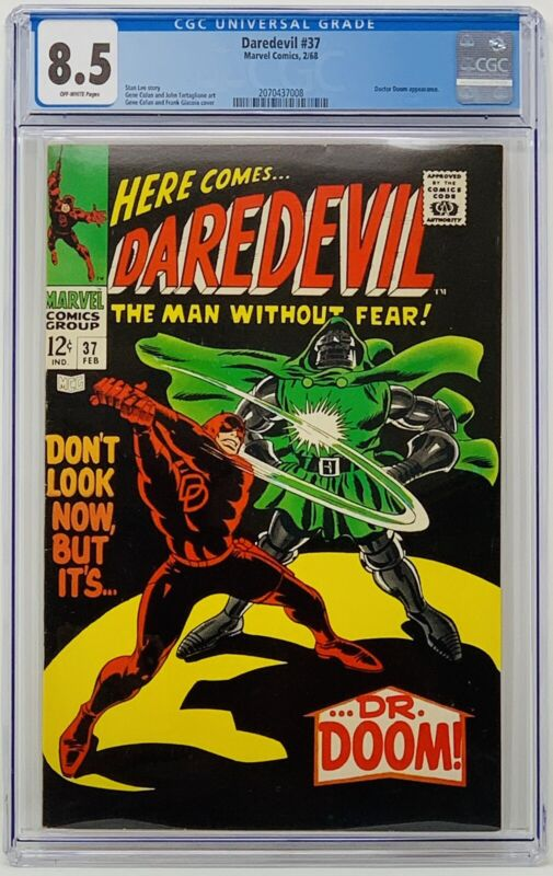 Daredevil #37  CGC 8.5 Marvel Comics 1968. Doctor Doom Appearance.