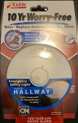 Kidde Photoelectric Smoke Alarm 10-Year Battery Operated Life Backup Detector