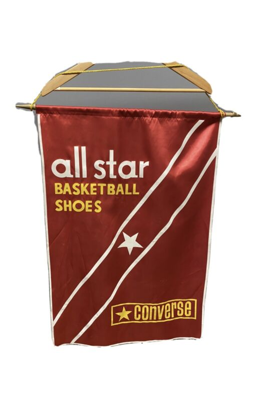 Vintage Converse All Stars Flag Basketball Shoes 50s/60s Red Rare Banner Year