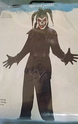 TWISTED JESTER ADULT COSTUME WITH MASK - ONE SIZE FITS MOST